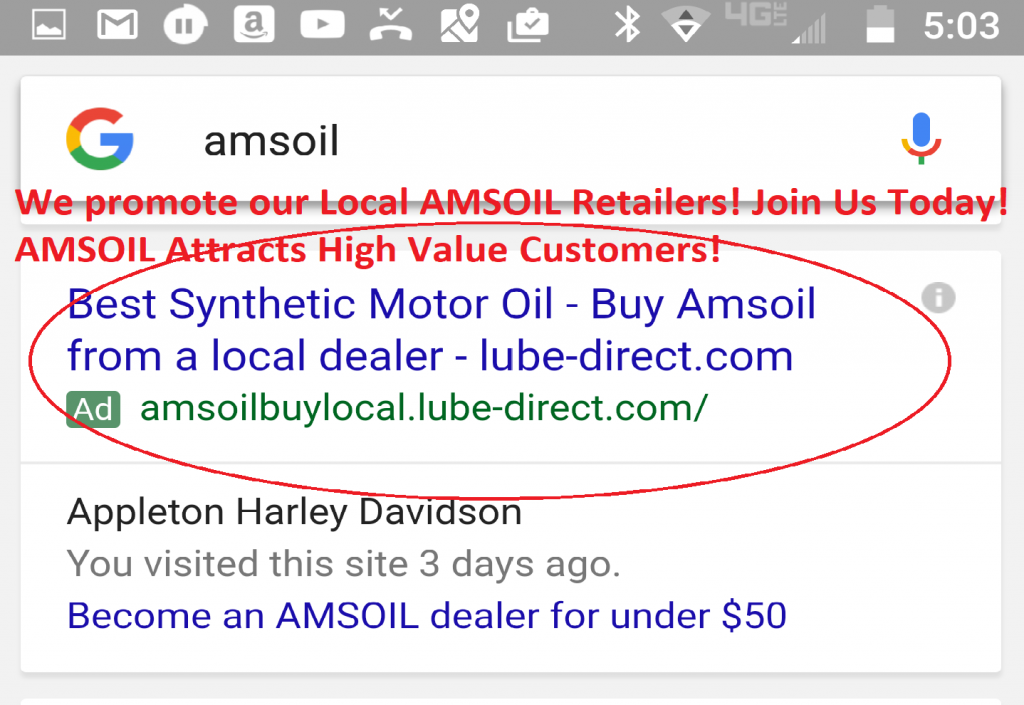 AMSOIL Buy Local Promote Your Business.